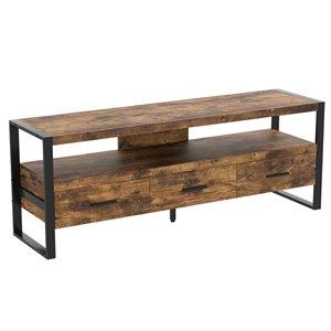 Meuble de télé en bois récupéré brun par Safdie & Co.