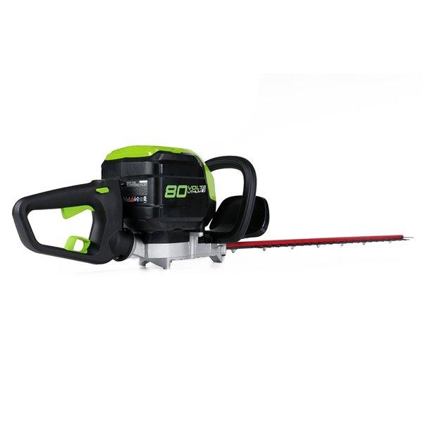 Taille-haie électrique sans fil Greenworks Pro, 80 volts, 26 po, batterie incluse