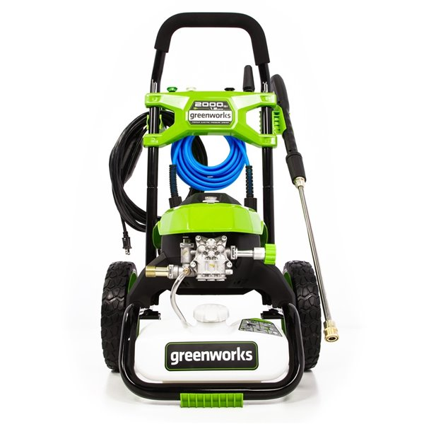 Nettoyeur haute pression électrique à eau froide Greenworks, 2 000 lb/po², 1,2 gal/min