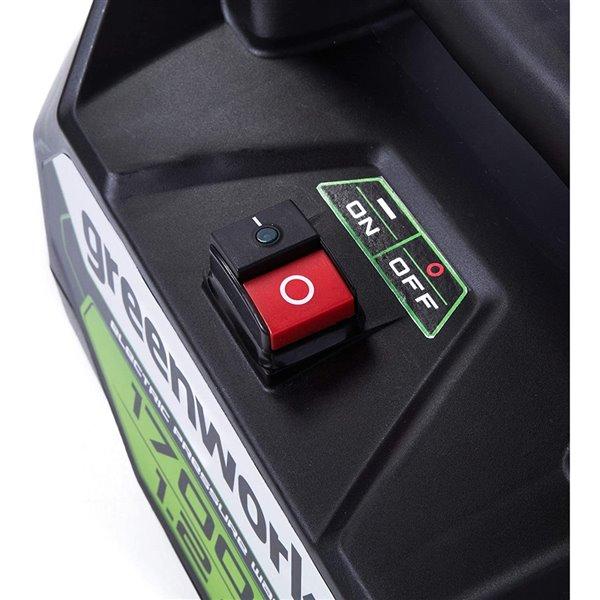 Nettoyeur haute pression électrique à eau froide Greenworks, 1 700 lb/po², 1,2 gal/min