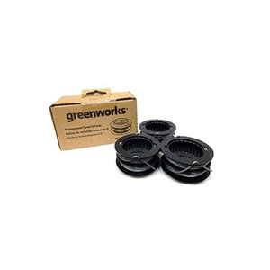 Bobine de rechange 0,080 po pour coupe-bordure en nylon de haute qualité de Greenworks (paquet de 3)