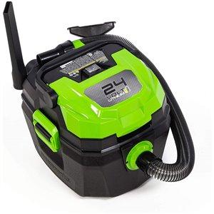 Aspirateur d'atelier sans fils de Greenworks, sec/humide, 24 volt, 3 gallon (outils seulement)