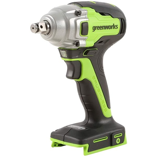 Clé à chocs de Greenworks, sans balais, 24 volt, 1/2 po, sans fils (outils inclus)