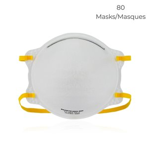 Makrite 9500 80-Pack N95 NIOSH Respiratory Mask FDA Cleared for Surgical Use