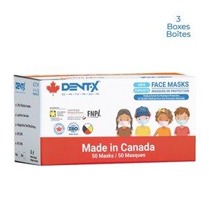 Masque chirurgical à usage unique pour enfants de Dent-X, paquet de 150