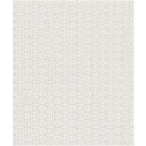 Papier peint géométrique non-tissé non encollé Garten de 57,8pi² par Advantage, gris