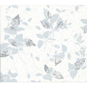 Papier peint non-tissé non encollé au motif de vignes Oceane de 57,8pi² par Advantage, gris