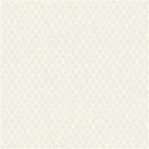 Papier peint géométrique texturé non tissé et non encollé Zoey par Advantage, 57,8 pi², écume de mer