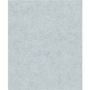 Papier peint abstrait texturé non tissé et non encollé Alexa par Advantage, 57,8 pi², bleu