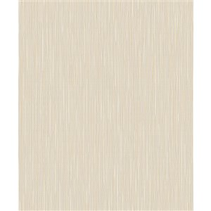 Papier peint abstrait non-tissé non encollé Lawrence de 56,4pi² par Advantage, blanc cassé