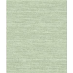 Papier peint abstrait texturé non tissé et non encollé Colicchio par Advantage, 57,8 pi², vert pâle
