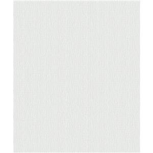 Papier peint abstrait texturé non encollé et non tissé Surfaces Hayley par Advantage, 57,8 pi², blanc