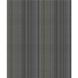 Papier peint à rayures non encollé et non tissé Surfaces Morgen par Advantage, 57,8 pi², gris anthracite