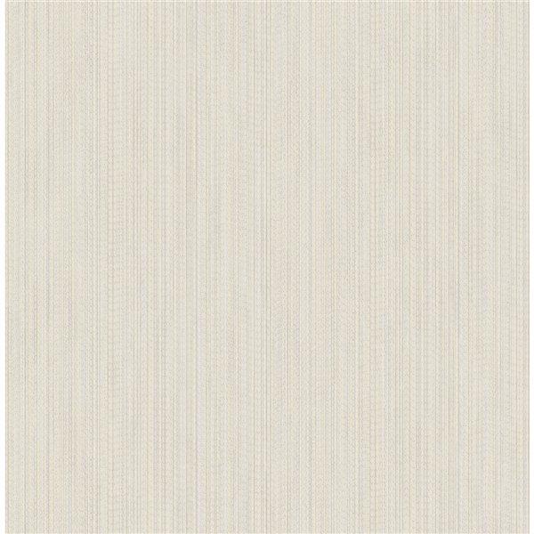 Papier peint non-tissé non encollé au motif abstrait texturé Vail de 56,4pi² par Advantage, blanc cassé