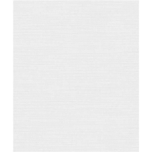 Papier peint abstrait non-tissé non encollé Zora de 57,8pi² par Advantage, blanc cassé