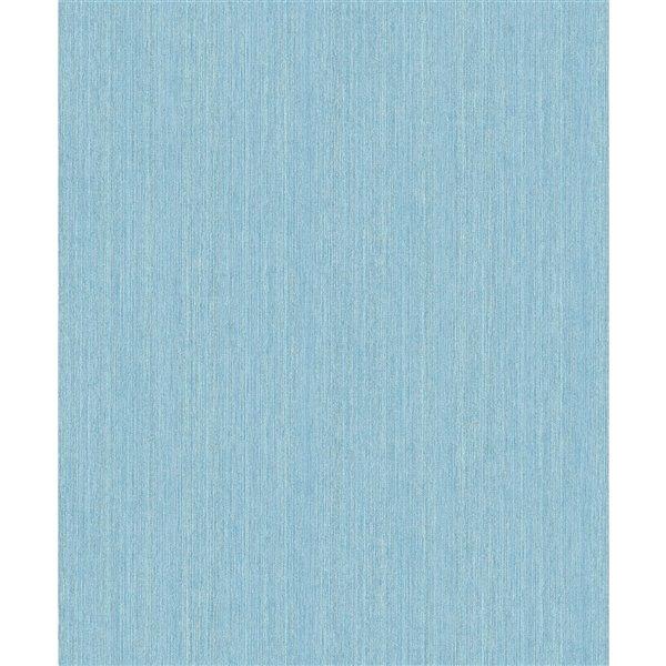 Papier peint abstrait texturé non encollé et non tissé Surfaces Christabel par Advantage, 57,8 pi², bleu