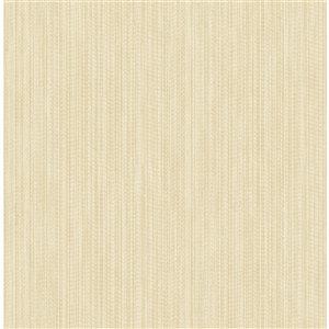 Papier peint non-tissé non encollé blanc cassé au motif abstrait texturé Vail de 56,4pi² par Advantage