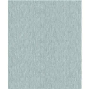 Papier peint abstrait texturé non encollé et non tissé Surfaces Hayley par Advantage, 57,8 pi², bleu