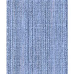 Papier peint à rayures non tissé et non encollé Audrey par Advantage, 57,8 pi², bleu