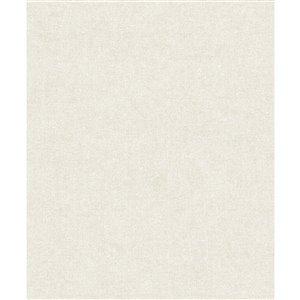 Papier peint abstrait texturé non tissé et non encollé Alexa par Advantage, 57,8 pi², blanc cassé