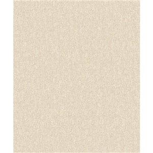 Papier peint abstrait texturé non tissé et non encollé Vivian par Advantage, 57,8 pi², blé