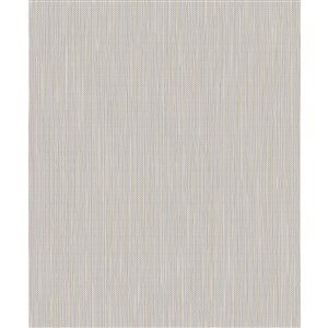 Papier peint abstrait non-tissé non encollé Lawrence de 57,8pi² par Advantage, argent