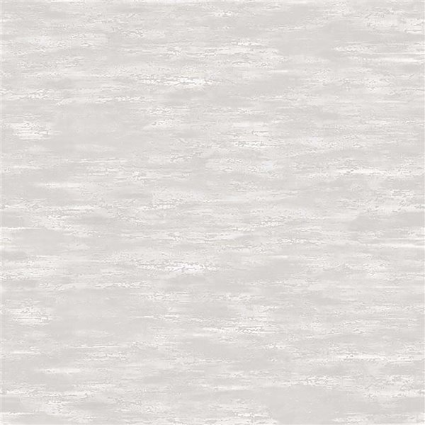 Papier peint abstrait texturé non encollé en vinyle Surfaces Aubrie par Advantage, 57,8 pi², gris pâle
