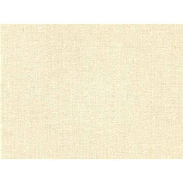 Papier peint abstrait texturé non tissé et non encollé Colicchio par Advantage, 57,8 pi², jaune pâle