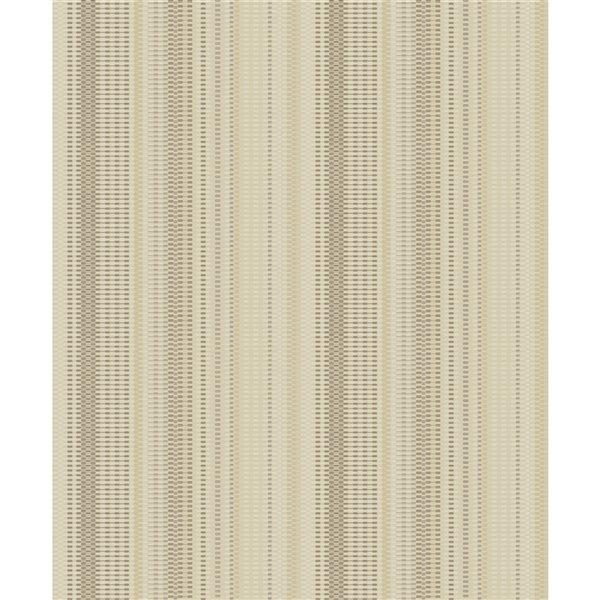 Papier peint à rayures non encollé et non tissé Surfaces Morgen par Advantage, 57,8 pi², or