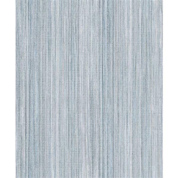 Papier peint à rayures non tissé et non encollé Audrey par Advantage, 57,8 pi², sarcelle
