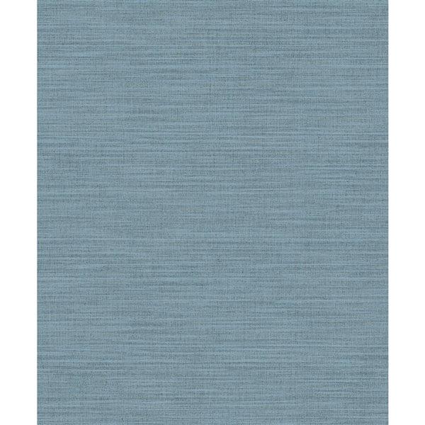 Papier peint abstrait texturé non tissé et non encollé Colicchio par Advantage, 57,8 pi², bleu