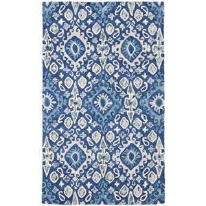 Carpette d'intérieur rectangulaire bleu marine/beige Aspen par Safavieh de style éclectique, 3 pi x 5 pi