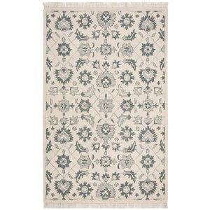 Tapis décoratif d'intérieur rectangulaire vert/gris Aspen par Safavieh de style éclectique, 5 pi x 8 pi