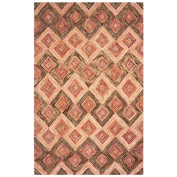 Tapis décoratif d'intérieur rectangulaire or/vert olive Aspen par Safavieh de style éclectique, 5 pi x 8 pi