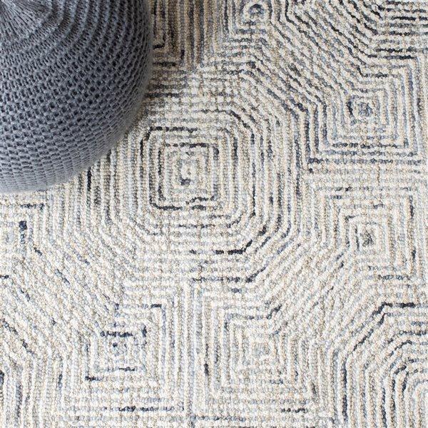 Tapis de passage d'intérieur rectangulaire gris/beige Aspen par Safavieh de style éclectique, 2 pi x 7 pi