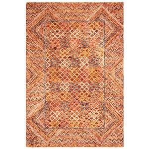Tapis décoratif d'intérieur rectangulaire or/rose Aspen par Safavieh de style éclectique, 4 pi x 6 pi