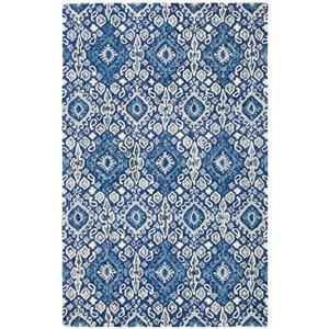 Tapis décoratif d'intérieur rectangulaire bleu marine/beige Aspen par Safavieh de style éclectique, 8 pi x 10 pi