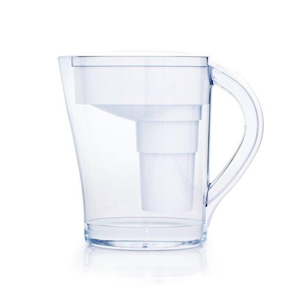 Santevia Mina White Alkaline Water Pitcher with 1 Filter