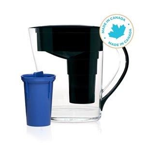 Santevia Mina Black Alkaline Water Pitcher with 1 Filter