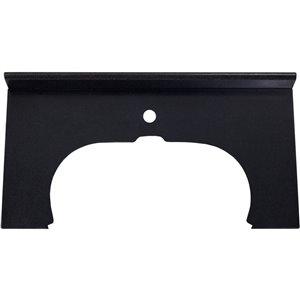 Dessus de meuble-lavabo simple en pierre noire d'American Imaginations de 33 po