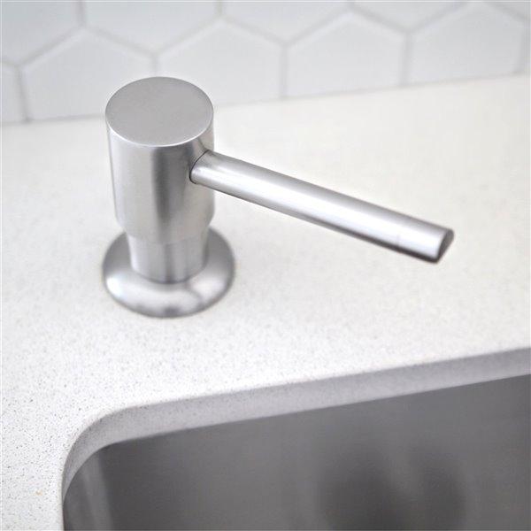 Distributeur de savon et lotion par Strylish en acier inoxydable, 240 ml