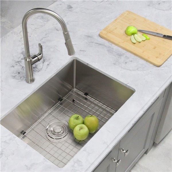 Évier de cuisine simple à encastrer/sous plan Styluxe Emerald de Stylish, 28 po x 18 po