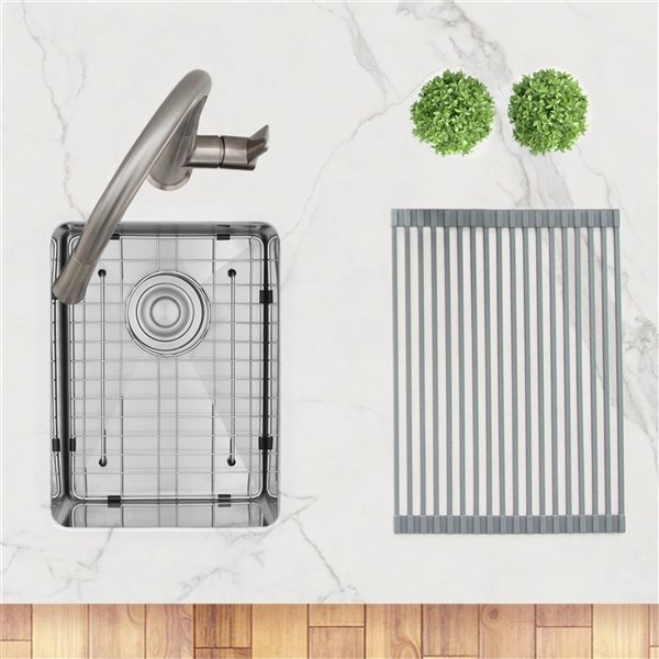 Évier de cuisine simple sous plan Styluxe Ivory de Stylish, 14 po x 18 po