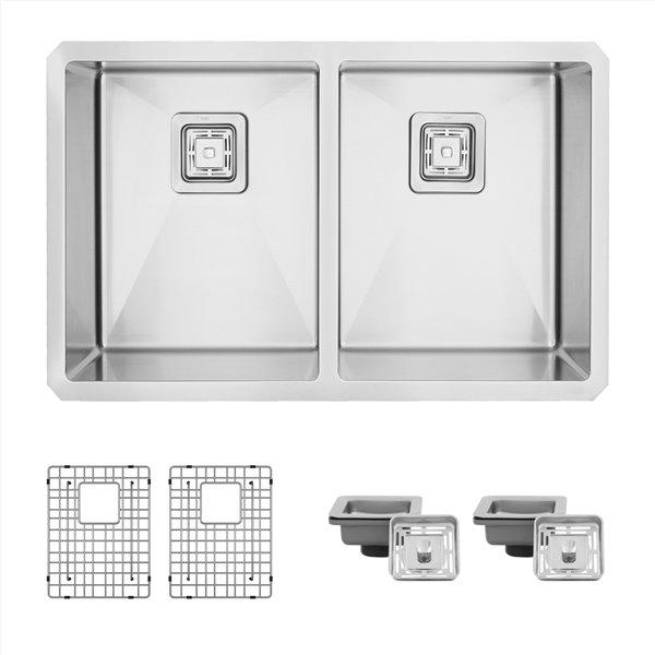 Évier de cuisine double sous plan Cube Morion de Stylish, 30 po x 18 po