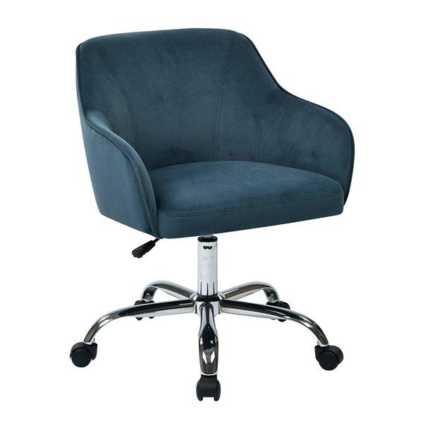 Chaise de travail contemporaine bleue, pivotante et ergonomique de OSP Home Furnishings