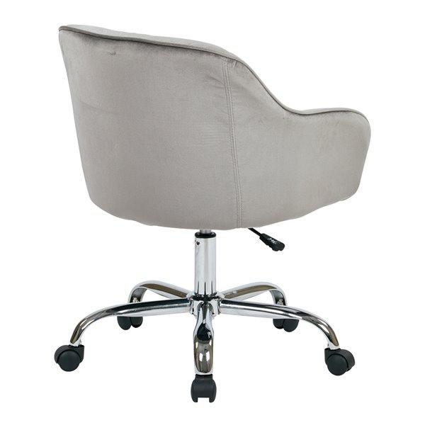 Chaise de travail contemporaine grise, pivotante et ergonomique de OSP Home Furnishings