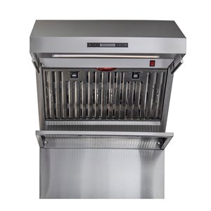 FORNO Alta Qualita 30 Inch Ducted Stainless Steel Wall-mounted Range Hood