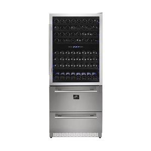 Réfrigérateur à vin autoportant de FORNO, triple zone de température, 200 bouteilles