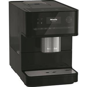 Machine Espresso Cm6130 programmable Miele, noire, en plastique, super automatique