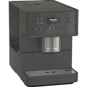 Machine Espresso Cm6130 programmable Miele, grise, en plastique, super automatique